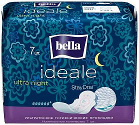 Белла идеале ультра прокладки супертонкие найт 7 шт.