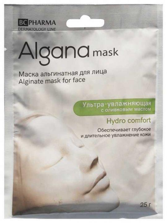 Альгана гидро коморт маска для лица альгинатная ультра-увлажняющая с оливковым маслом 25г, фото №1