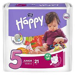 Белла беби хеппи подгузники джуниор 12-25кг 21 шт.