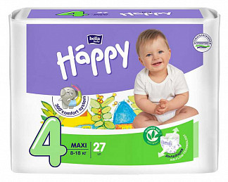 Белла беби хеппи подгузники макси 8-18кг 27 шт.