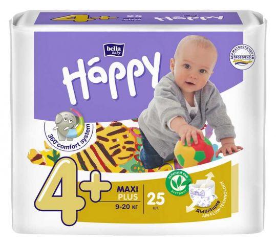 Белла беби хеппи подгузники макси плюс 9-20кг 25 шт. + колготки, фото №1