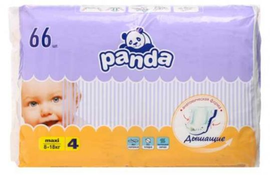 Белла панда подгузники макси 8-18кг 66 шт., фото №1