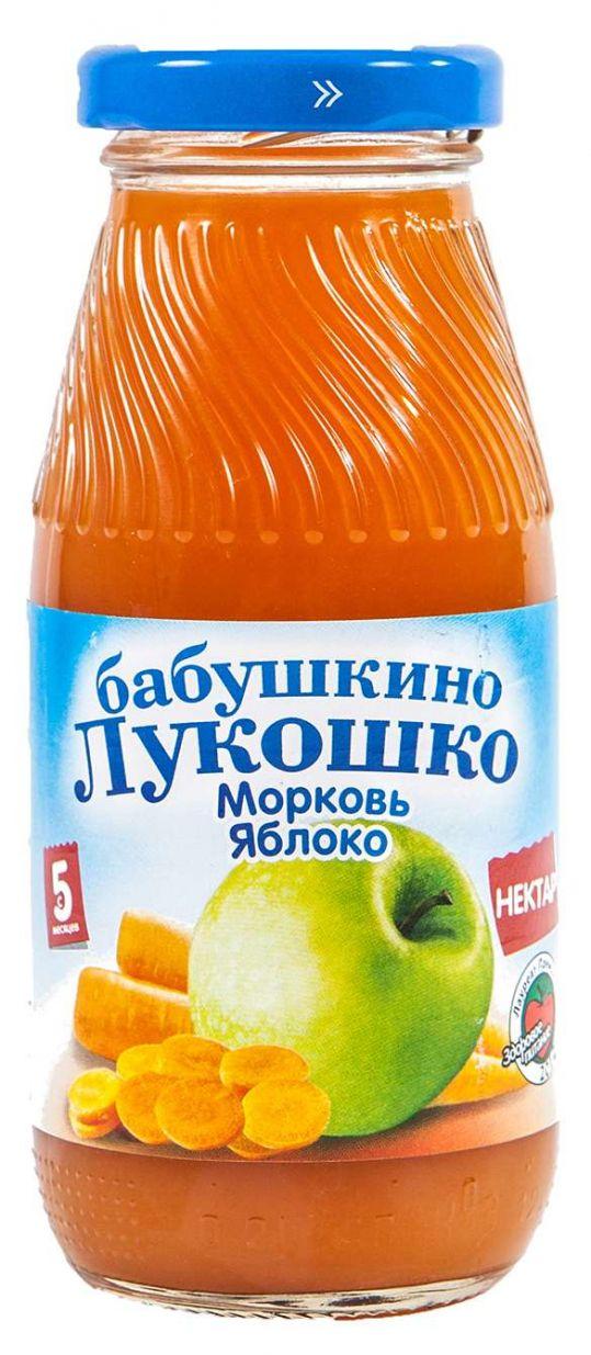 Бабушкино лукошко нектар морковь/яблоко 5+ 200мл, фото №1