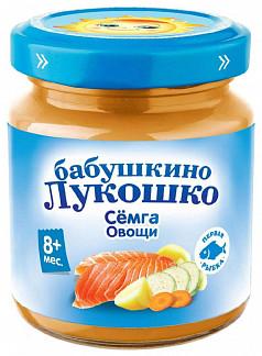 Бабушкино лукошко пюре рагу семга/овощи 8+ 100г