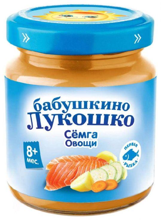 Бабушкино лукошко пюре рагу семга/овощи 8+ 100г, фото №1