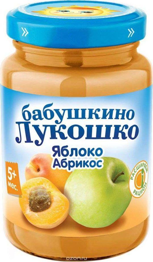 Бабушкино лукошко пюре яблоко/абрикос 5+ 200г, фото №1