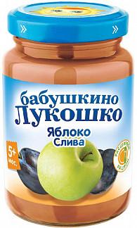 Бабушкино лукошко пюре яблоко/слива 5+ 200г