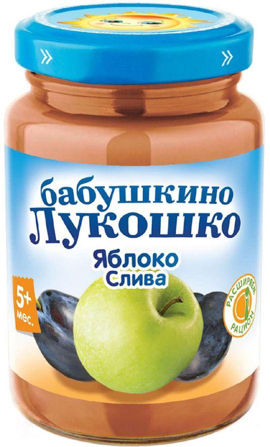 Бабушкино лукошко пюре яблоко/слива 5+ 200г, фото №1