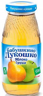 Бабушкино лукошко сок яблоко/груша 5+ осветленный 200мл