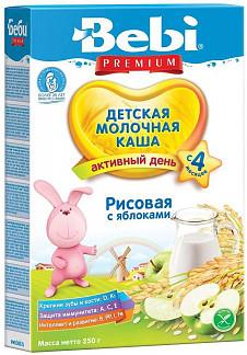 Беби каша молочная рисовая яблоко 4+ 250г