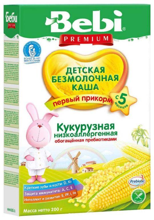 Беби премиум каша безмолочная кукурузная низкоаллергенная с пребиотиками 5+ 200г, фото №1