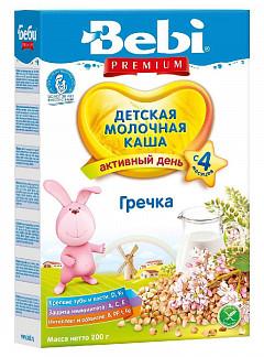 Беби премиум каша молочная гречневая 4+ 200г