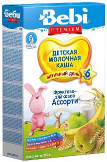 Беби премиум каша молочная фрукты/злаки 6+ 250г