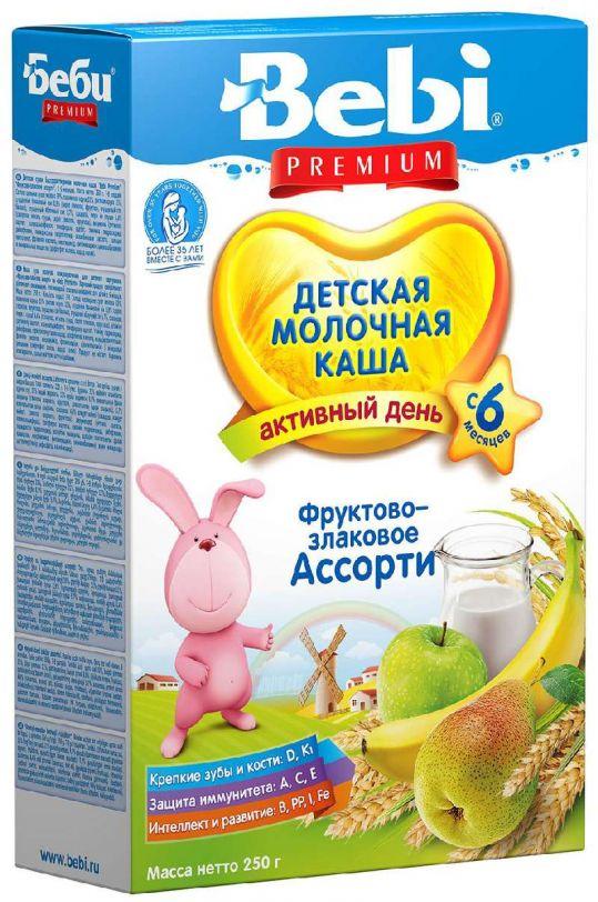 Беби премиум каша молочная фрукты/злаки 6+ 250г, фото №1