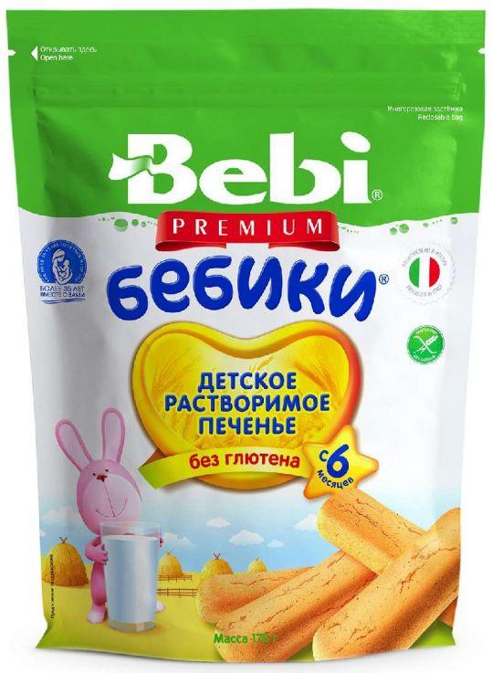 Бэби премиум печенье бебики без глютена 6+ 170г, фото №1