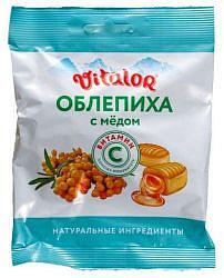 Виталор карамель леденцовая облепиха с медом + витамин с 60г