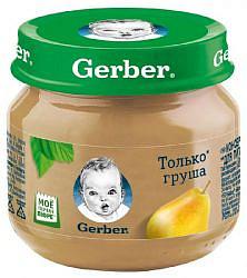 Гербер (gerber) пюре груша вильямс 4+ 80г