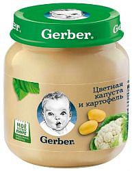 Гербер (gerber) пюре цветная капуста/картофель 5+ 130г