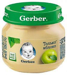 Гербер (gerber) пюре яблоко 4+ 80г