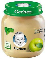 Гербер пюре яблоко 4+ 130г