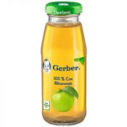 Гербер сок яблоко 4+ 175мл