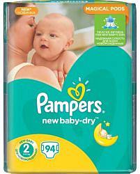 Памперс нью беби подгузники мини размер 2 3-6кг 94 шт.
