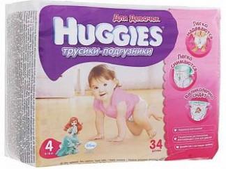 Хаггис трусики-подгузники для девочек 4 (9-14кг) 34 шт.