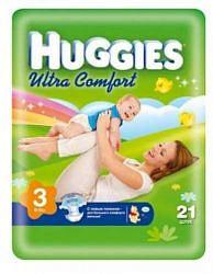 Хаггис ультра комфорт подгузники 3 (5-9кг) 21 шт.