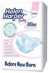 Хелен харпер беби подгузники для недоношенных 1-3кг 32 шт.