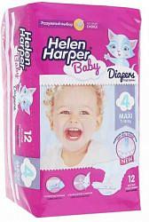 Хелен харпер беби подгузники макси 7-18кг 12 шт.