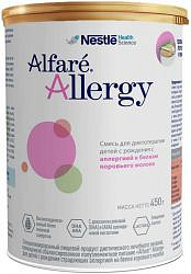 Нестле алфаре аллерджи смесь молочная 0+ 450г