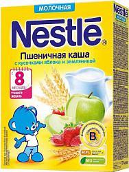 Нестле каша молочная пшеничная яблоко/земляника/бифидобактерии 8+ 220г