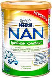 Нестле нан тройной комфорт смесь молочная 0+ 400г