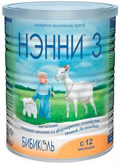 Нэнни 3 смесь на основе козьего молока с пребиотиками (12+мес.) 400г
