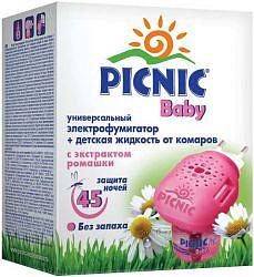 Пикник бэби электрофумигатор + жидкость от комаров на 45 ночей