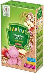 Хайнц каша гречневая безмолочная с яблоком 4+ 200г