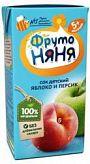Фрутоняня сок яблоко-персик 5+ 0,2л прогресс