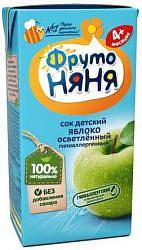 Фрутоняня сок яблоко осветленный 4+ 200мл