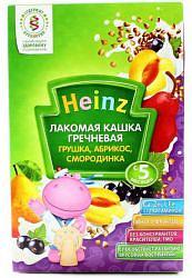 Хайнц каша гречневая абрикос/груша/смородина 5+ 200г
