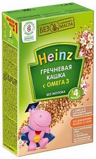 Хайнц каша гречневая безмолочная с омега-3 4+ 200г