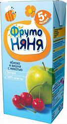 Фрутоняня нектар с мякотью яблоко/вишня 5+ 0,2л