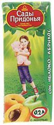 Сады придонья сок яблоко/абрикос 5+ 200мл