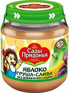 Сады придонья пюре яблоко/груша/слива без сахара 5+ 125мл
