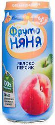 Фрутоняня пюре яблоко/персик 5+ 250г
