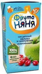 Фрутоняня сок яблоко-шиповник осветленный без сахара 5+ 0,2л