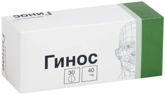 Гинос 40мг 30 шт. таблетки, фото №1