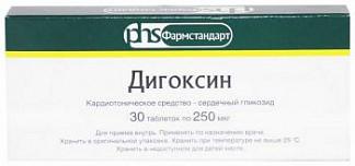 Дигоксин 0,25мг 30 шт. таблетки