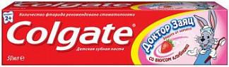 Колгейт доктор заяц зубная паста клубника 50мл