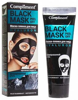 Комплимент блэк маск маска-пленка для лица гиалурон 80мл