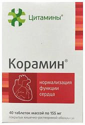 Корамин таблетки 40 шт. клиника института биорегуляции и геронто